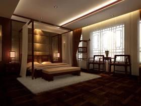 简约中式风格别墅卧室吊顶装修图片-简约中式风格置物台图片
