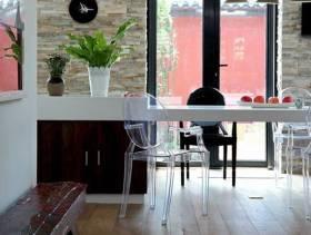 简约风格别墅休闲室桌椅图片