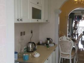 120㎡复式楼欧式风格厨房装修图片-欧式风格实木橱柜图片