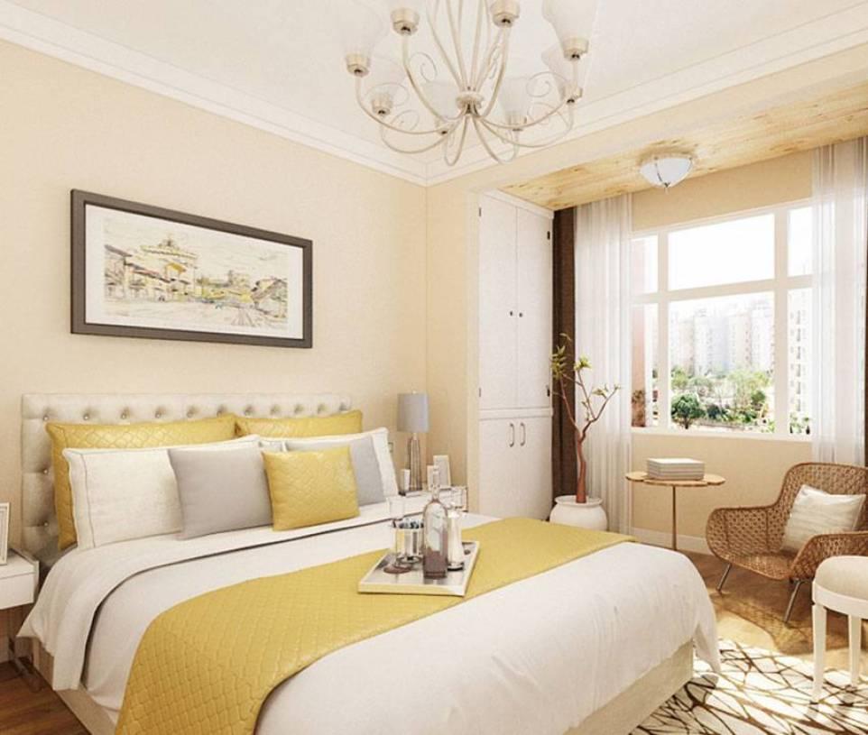 温馨舒适的米黄色卧室装修设计