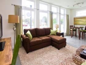 简约风格小户型小客厅窗帘装修效果图-简约风格沙发图片