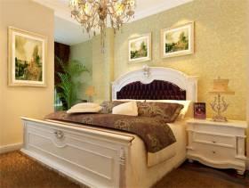 欧式风欧式风格复式卧室背景墙装修效果图,欧式风格吊顶图片
