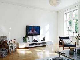 简约风格小户型客厅吊顶装修图片-简约风格电视柜图片