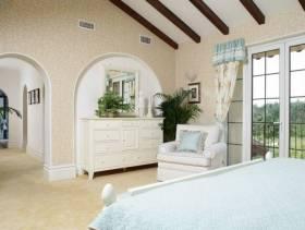 地中海风格三居卧室装修图片,地中海风格樟木斗柜图片