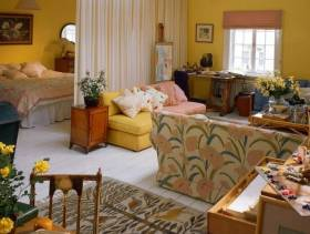 乡村风格小户型小客厅沙发背景墙装修效果图-乡村风格沙发图片