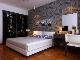 主卧室背景墙纸装修效果图