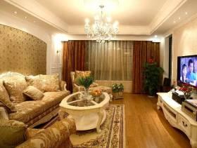 欧式田园风格客厅沙发背景墙装修效果图-欧式田园风格沙发图片