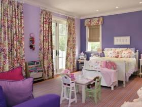 简约欧式风格女生卧室背景墙装修图片-简约欧式风格儿童椅图片