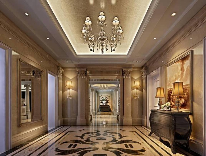 欧式风格走廊玄关背景装修效果图