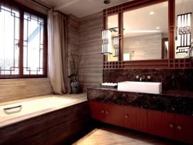 新中式风格卫生间装修图片