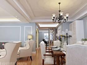 简欧风格大户型餐厅装修效果图-简欧风格吊灯图片