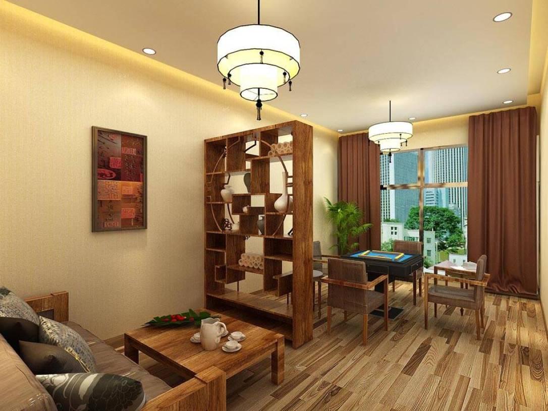 简约中式风格茶楼包间装修效果图-简约中式风格茶几图片