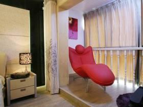 简欧风格主卧室阳台装修效果图-简欧风格沙发床图片