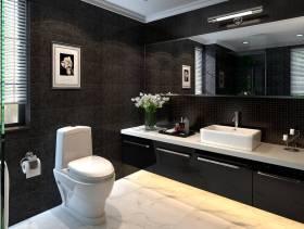 450m²联排别墅混搭风格卫生间装修效果图,混搭风格浴室柜图片