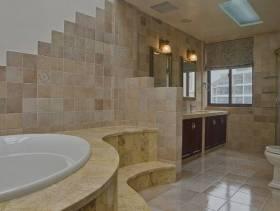 180㎡小型别墅欧式古典风格卫生间背景墙装修效果图-欧式古典风格浴柜图片