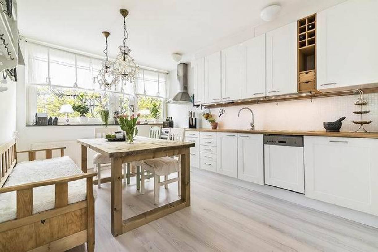 北欧风格开放式厨房装修图片