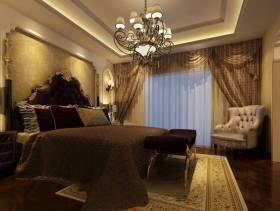 欧式风格大户型主卧室背景墙装修效果图,欧式风格吊顶图片