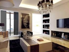现代风格最时尚小户型客厅背景墙装修图片-现代风格壁柜图片