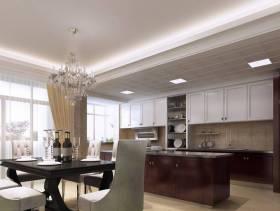 简约欧式风格小厨房餐厅装修效果图-简约欧式风格吊灯图片