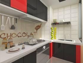 现代风格厨房吊顶装修效果图-现代风格不锈钢橱柜图片