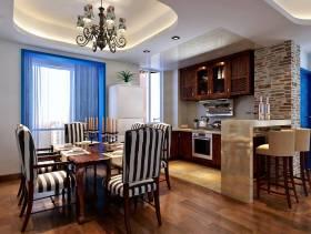 地中海风格餐厅吊顶装修效果图,地中海风格餐桌椅图片