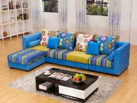 现代简约风格小户型客厅布沙发效果图