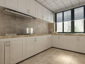 厨房白色整体橱柜图片