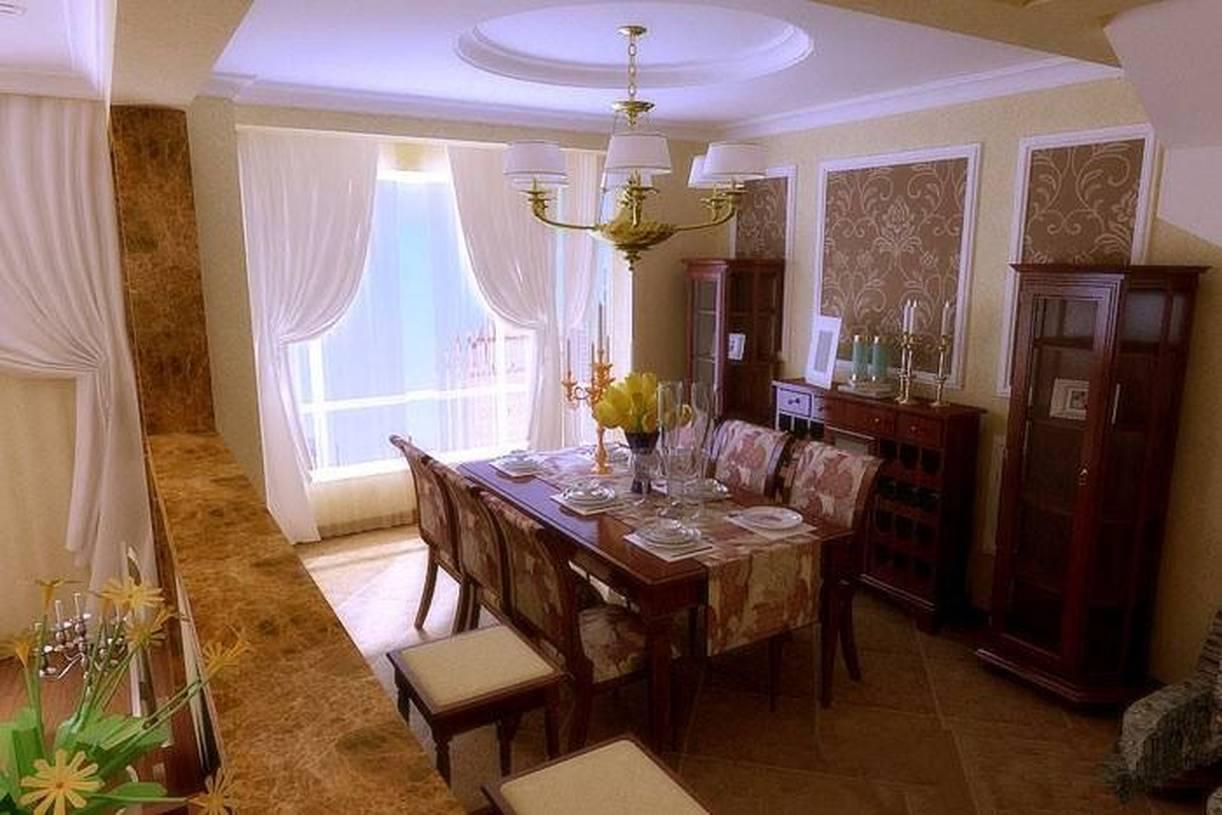 170㎡复式楼美式风格餐厅窗帘装修效果图-美式风格餐桌餐椅图片图片