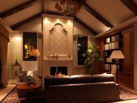 欧式风格别墅起居室装修效果图