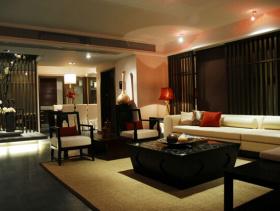 新中式风格客厅装修效果图-新中式风格茶几图片