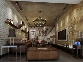 100平米混搭风格客厅电视背景墙装修效果图,混搭风格电视柜图片