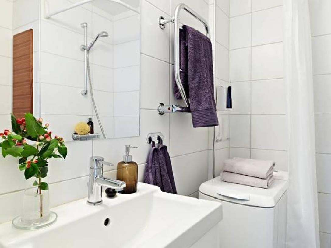69㎡北欧风格浴室装修图片-北欧风格面盆图片
