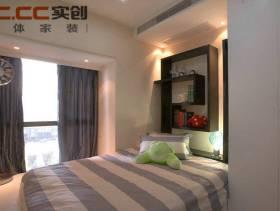 140㎡三居室简约风格女生卧室窗帘装修图片-简约风格单人床图片