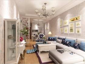 三居小客厅沙发背景墙面装饰装修效果图