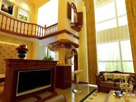 300平米别墅欧式风格客厅电视背景墙装修效果图,欧式风格双人沙发图片
