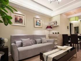 简约风格小户型客厅吊顶装修图片-简约风格沙发图片