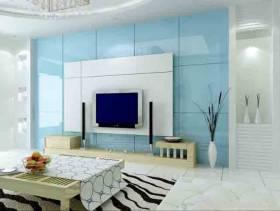现代风格小户型客厅家装电视墙图片-现代风格电视柜图片