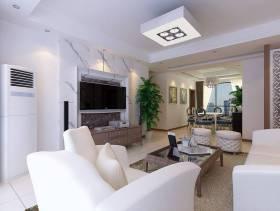 现代风格三居室客厅电视背景墙效果图,现代风格吊顶图片