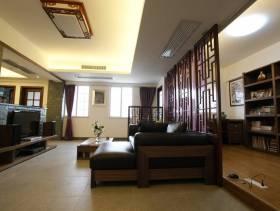 130平新中式风格三居客厅吊顶装修图片,新中式风格柏木电视柜图片