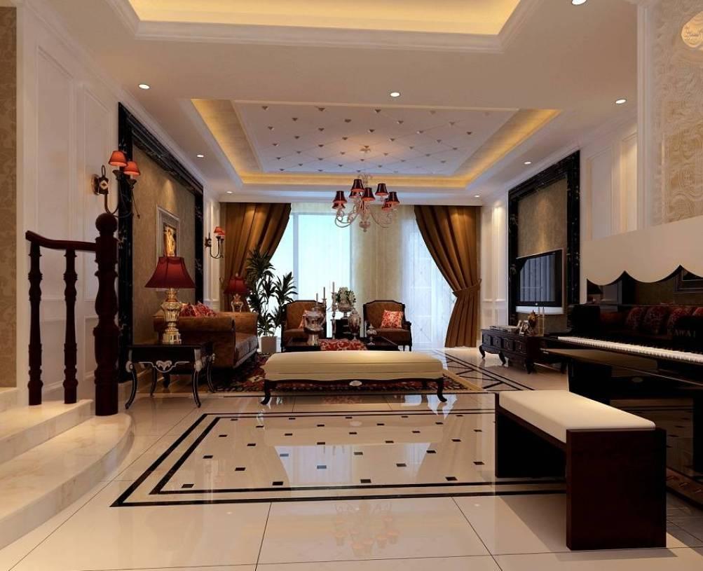 客厅拼花地砖设计欣赏