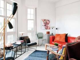简约风格小户型小客厅装修图片-简约风格休闲椅图片