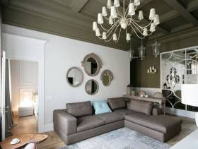 简约风格小户型公寓客厅背景墙装修图片-简约风格客厅沙发图片