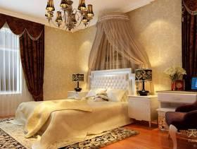 欧式风格卧室窗帘装修效果图,欧式风格吊顶图片