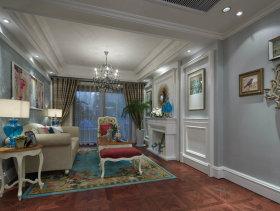 金地法式浪漫别墅客厅装修效果图