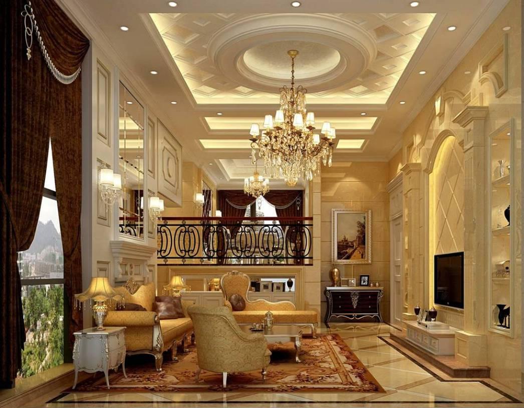 欧式风格客厅电视背景墙装修效果图,欧式风格电视柜图片