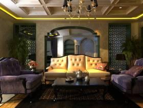 220㎡欧式古典风格复式楼客厅沙发背景墙装修效果图,欧式古典风格沙发图片