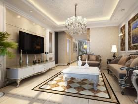 136㎡三居欧式风格客厅吊顶装修效果图-欧式风格沙发图片