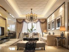 简约欧式风格客厅电视背景墙装修效果图-简约欧式风格茶几图片