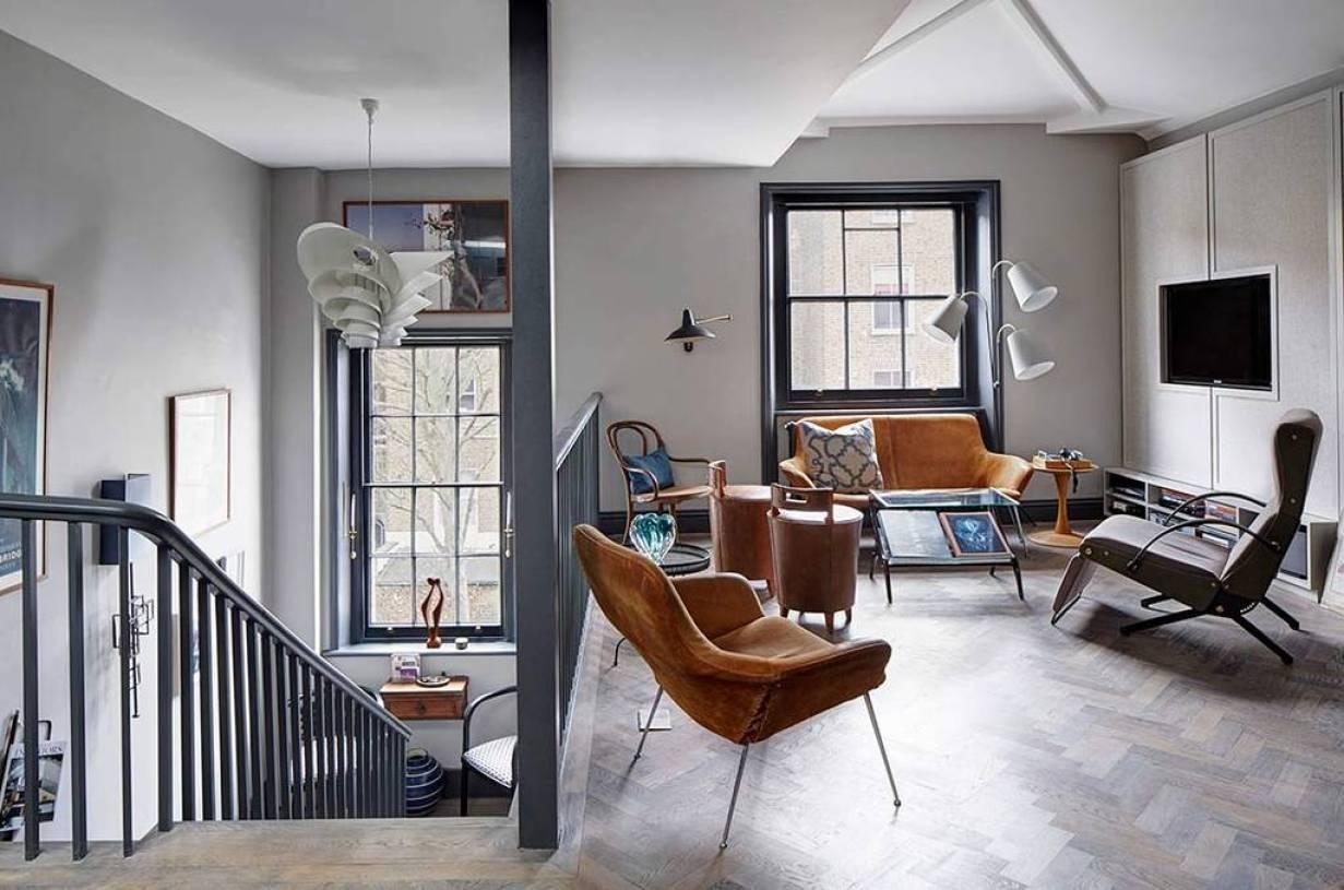 北欧风格loft客厅装修图片