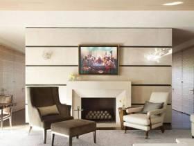 现代风格三居室休闲区沙发椅效果图